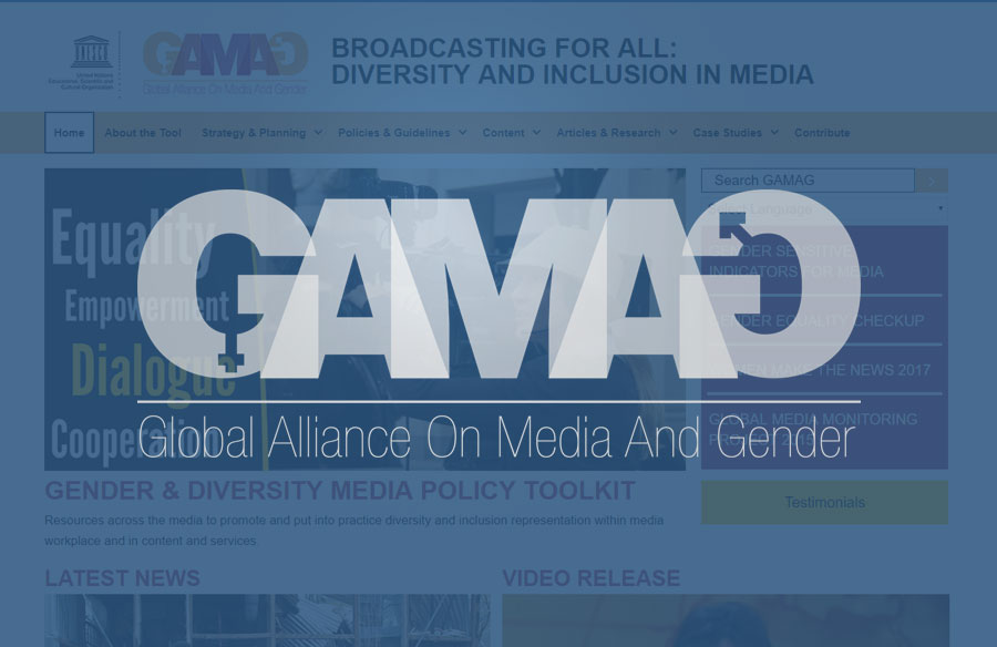 GAMAG Website screenshot with logo