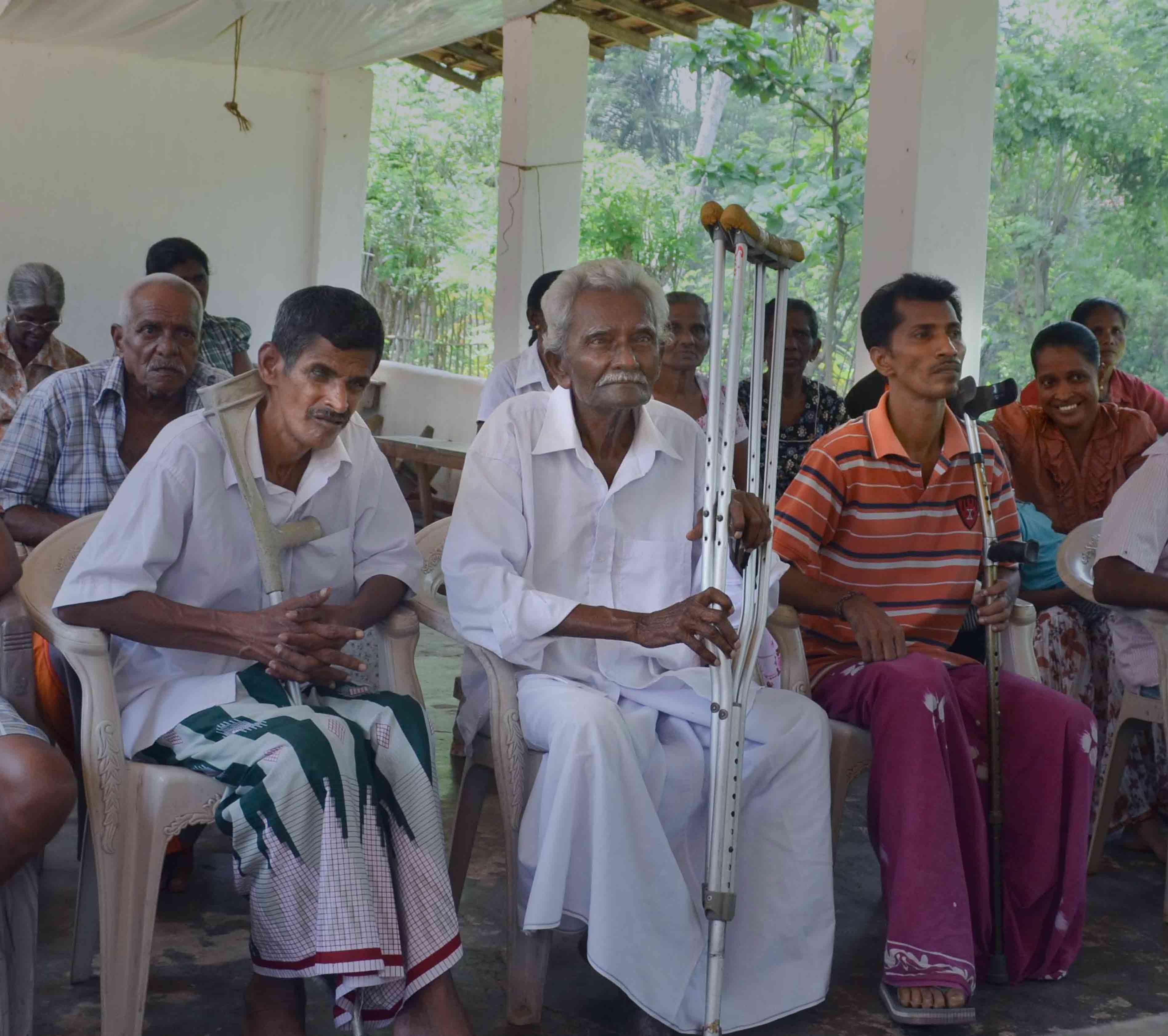 スリランカの災害ワークショップに参加する障害者