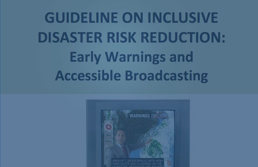 Cover page - Guideline on Inclusive Disaster Risk Reduction: Early Warning and Accessible Broadcasting