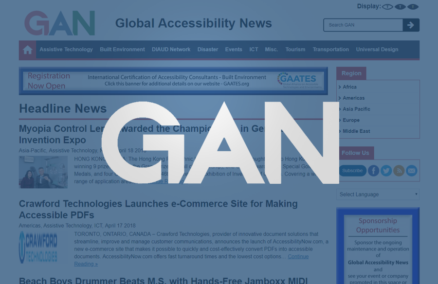 GAN Website screenshot with logo