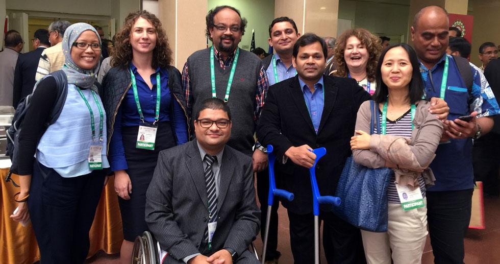 Disability Advocates AMCDRR Conference participants group photo