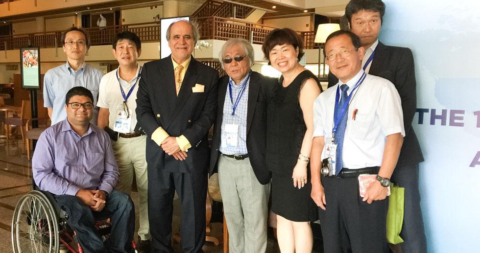 Aqeel Qureshi with ABU General Secretary, Javed, and the team of NHK