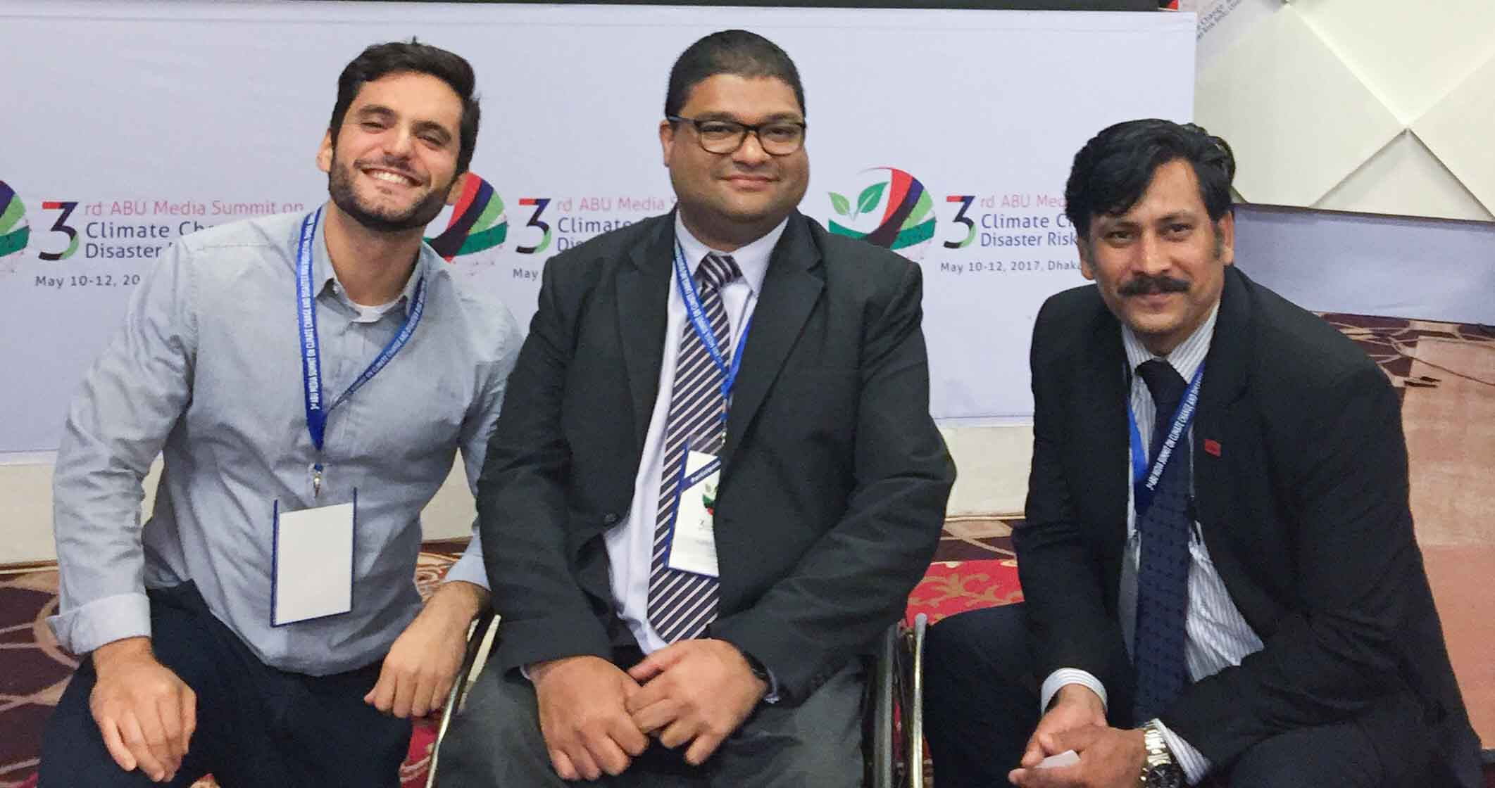 Our CEO, Aqeel Qureshi with Atiq Kainan Ahmed (right) and Donald Tartaglione
