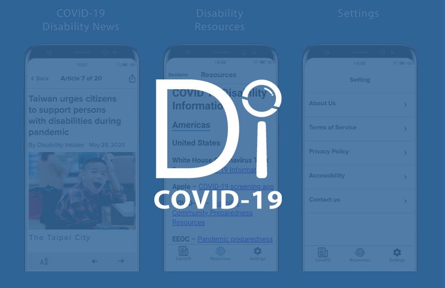 DI-COVID-19 App Screenshots