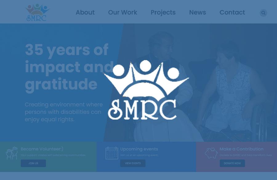 SMRC Website screenshot with logo