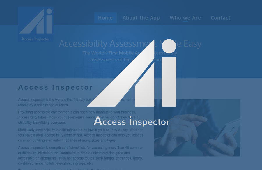 Access Inspector Website screenshot with logo